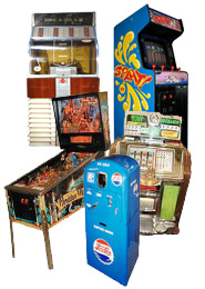 Coin Op Machines, Pinball Machines, Juke Boxes, Slot Machines, & Much More